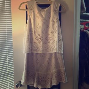 Short lace cut out dress